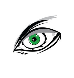Cartoon angry green horus god eyes for comics vector