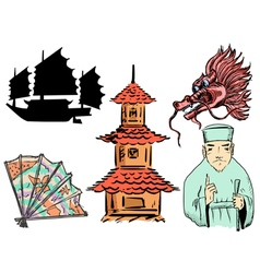 chinese motive vector image