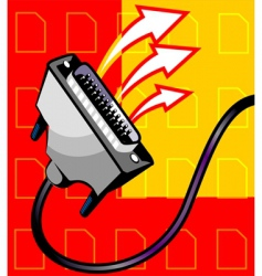 data cable vector image vector image