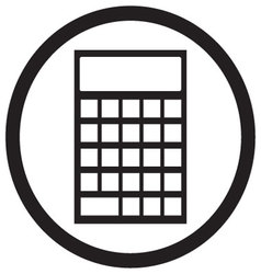 Device calculator icon black white vector image vector image