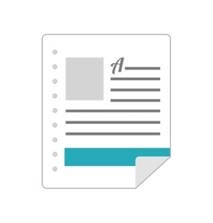 Doc format page vector