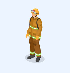 Figure of a fireman in uniform professional vector