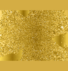 Gold sequins texture abstract halftone background vector