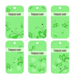 green floral banners vector image