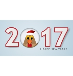 Happy new year background with rooster vector