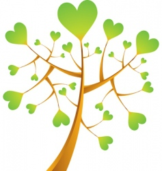 heart tree illustration vector image vector image