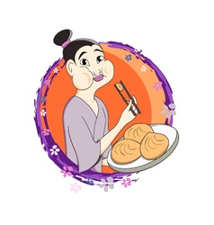 Japanese-dumplings vector