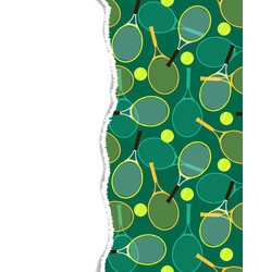 Pattern with tennis rackets and balls vector