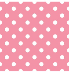 Pink polka dot seamless pattern design vector