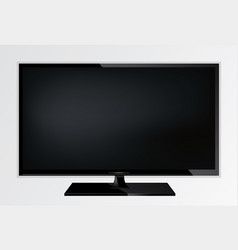 Plasma lcd modern tv screen vector