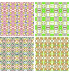 Seamless geometric abstract pattern set for fabric vector image