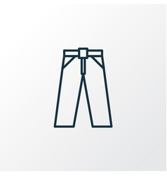 trousers outline symbol premium quality isolated vector image vector image