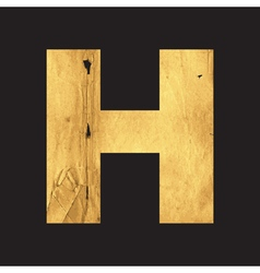 Uppercase letter h of the english alphabet vector