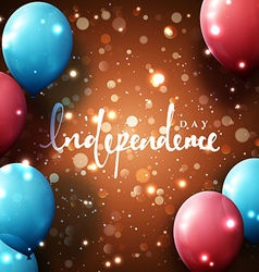 Independence day template greeting card bright vector
