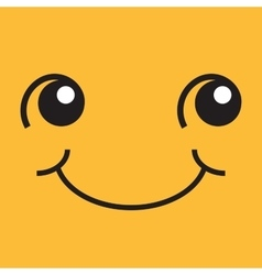 Smiling face with eyes and mouth vector image