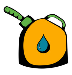 Jerrycan with flexi pipe spout icon icon cartoon vector