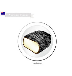 Lamington cakes the national cake of australia vector