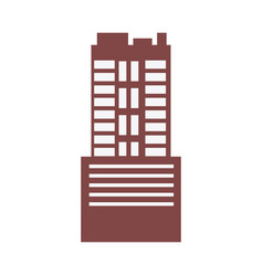 Modern building business architecture facade of vector