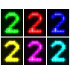 number 2 symbols vector image