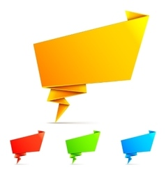 Origami paper speech bubbles vector