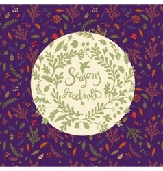 Vignette of leaves vector