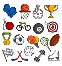 Sport and fitness icons set vector