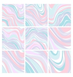 Set of marble patterns - abstract texture with vector