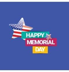 Happy Memorial Day banner memorial day card vector image