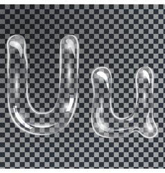 Bubbles letters u vector