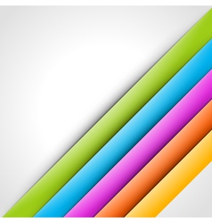 Abstract colorful lines background vector image vector image