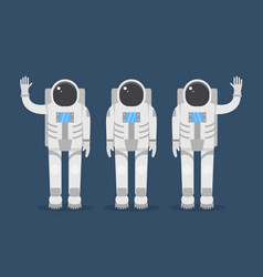 astronaut team flat style vector image vector image