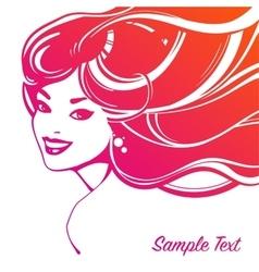 Beautiful woman decorative portrait vector image