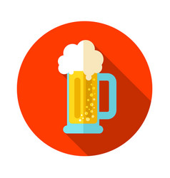 Beer mug icon summer vacation vector
