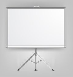 Blank presentation screen vector
