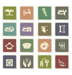 Car shop icon set vector