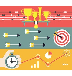 Concept of business and marketing Startup and vector image vector image