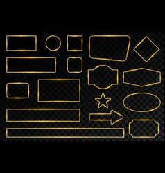 creative of shiny golden vector image