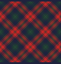 Diagonal fabric texture plaid seamless pattern vector