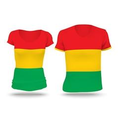 Flag shirt design of Bolivia vector image vector image