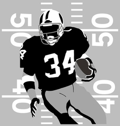 Football player rules vector image