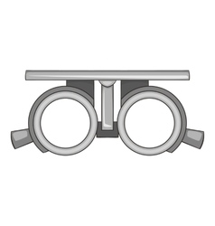 Frame for checking vision icon cartoon style vector