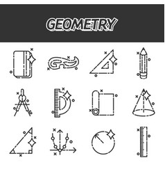 Geometry flat concept icons vector