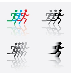 icon of the running man vector image