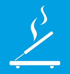 incense sticks icon white vector image