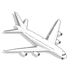 Isometric white airplane vector