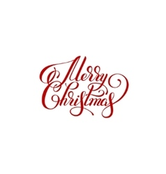 merry christmas handwritten lettering text vector image vector image