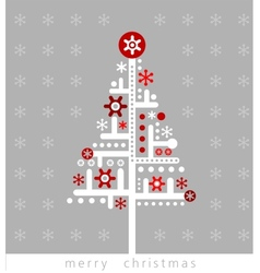 Modern Christmas greeting card vector image vector image