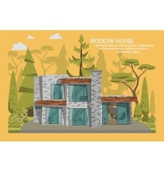 Modern family house vector image