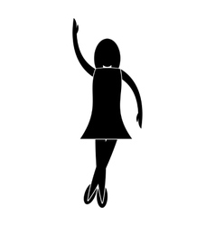 Nice dance simple icon vector