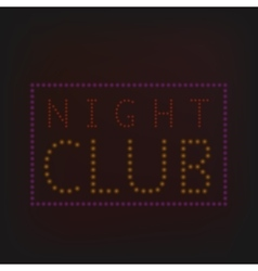 Night club banner vector